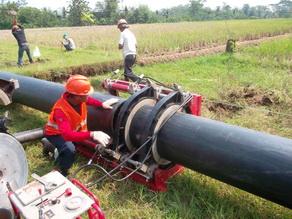 Instalasi Pipa HDPE, Pipa Air Bersih, PT. SAMATOR, Subang, Jawa Barat